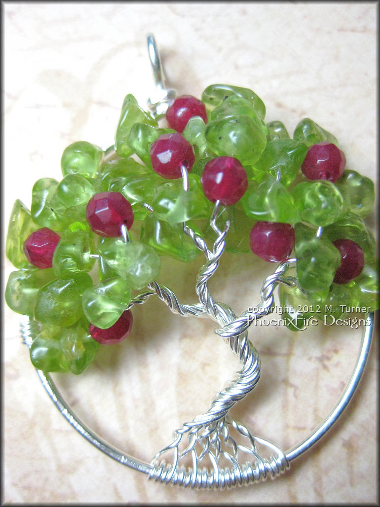 Apple Tree - Tree of Life Pendant Wire Wrapped Sterling Silver