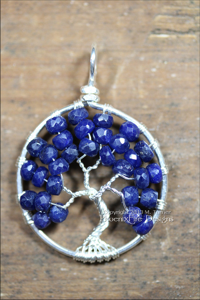 "Sapphire means ""blue"" in Greek. The blue goes from dark blue almost black to pale blue. The finest blue sapphires are a strong blue. Sapphires are one of only four precious gemstones in the world (along with ruby, emerald and diamond) making them rare, expensive and cherished. The sapphire was called the ""Stone of Destiny"". Sapphires contribute to mental clarity and perception. They can promote financial rewards."