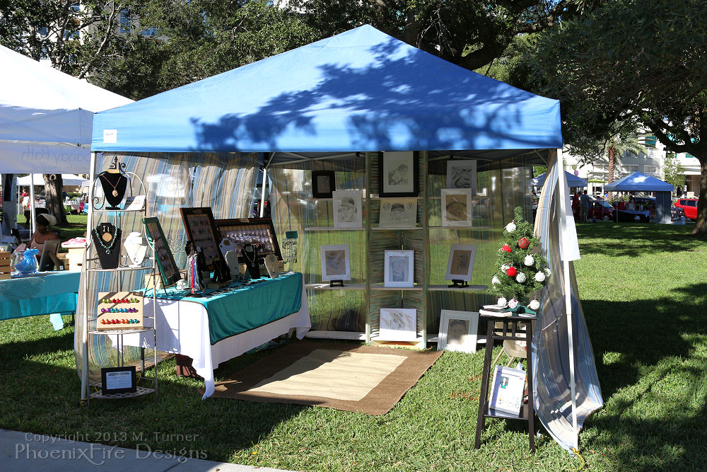 PhoenixFire Designs first ever show tent, just goes to show how far I've come and how you grow, change and develop your display and vendor booth presence over the years!
