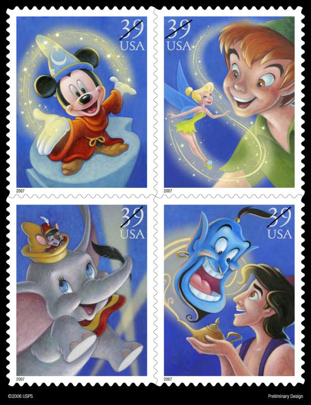 Fourth In The Art Of Disney Stamp Set To Release 2007
