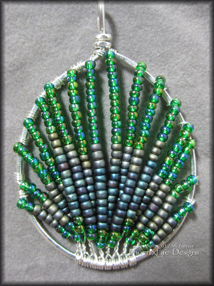Image result for wire wrapping seed bead pendant