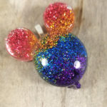handmade rainbow glitter mouse ear balloon pendant necklaces